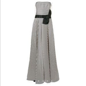 NWT Halston Heritage Cream and black faille Gown